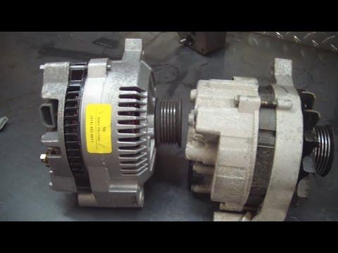Ford externally regulated alternator wiring - YouTube