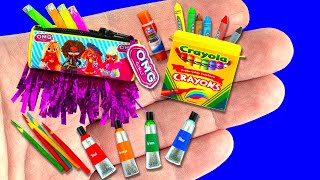 51 DIY School Supplies, Barbie, Baby Hacks and Crafts | Miniature Crayons, Pencil Box ... and more!