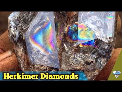 Digging Rainbow Herkimer Diamond Quartz Crystals | Paradise Falls New York