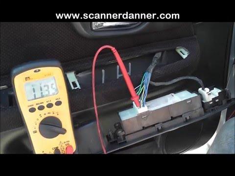 How to test computer controlled door locks - Subaru
