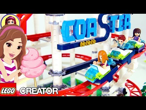 Ride the Lego Creator Roller Coaster! with Sophie & Henry and the Triplets