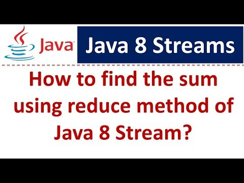 How To Find The Sum Using Reduce Method Of Java 8 Stream? | Streams In Java 8