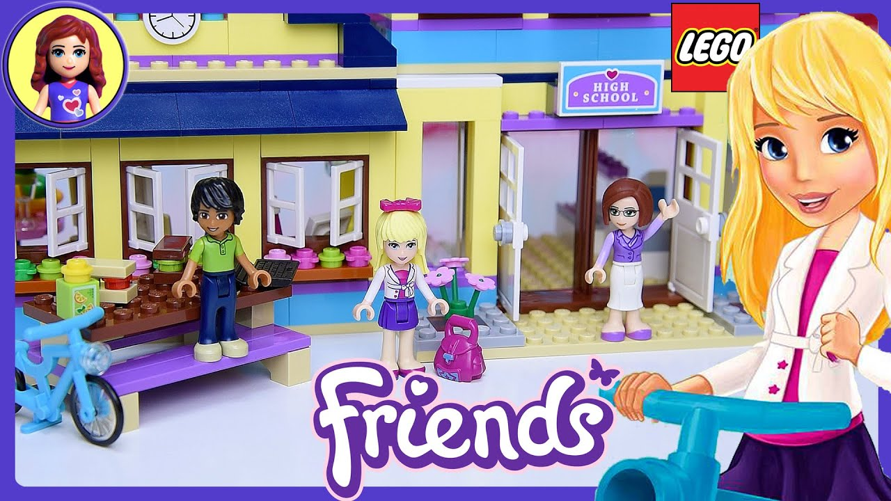 Lego Friends Heartlake High School Build Review Silly Play ...