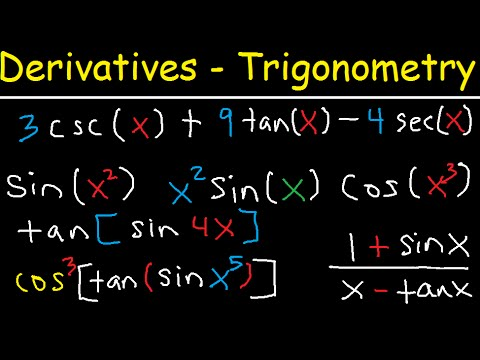 Derivatives of Trigonometric Functions - Product Rule Quotient