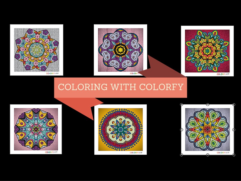 COLORFY Mandala Coloring Video For Relaxation Compilation Of 6 Mandalas