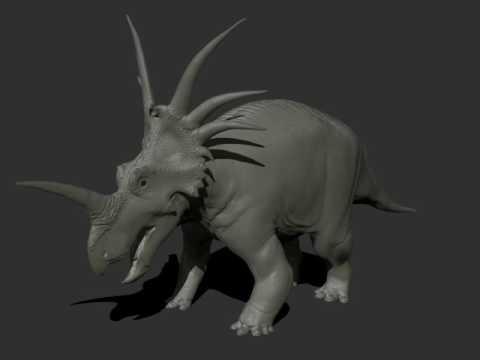 Styracosaurus WIP turntable