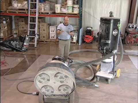 Concrete grinding equipment video for Best vacuum for cement floors