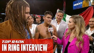 #NavarreteDeVaca Post-Fight Interview | Emanuel Navarrete