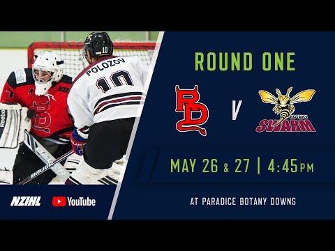 NZIHL 2018 | Round 1 Game 1: Canterbury Red Devils v Botany Swarm - May 26