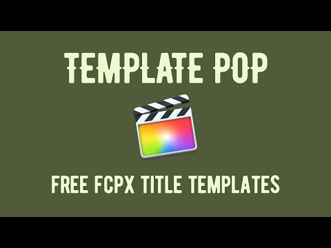 fcpx motion templates free download