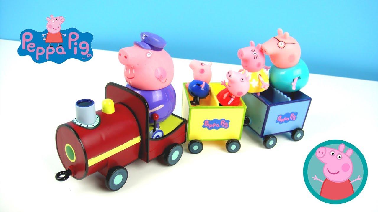 玩粉紅豬小妹 爺爺的火車 發聲玩具 佩佩豬 喬治 玩具開箱 - YouTube