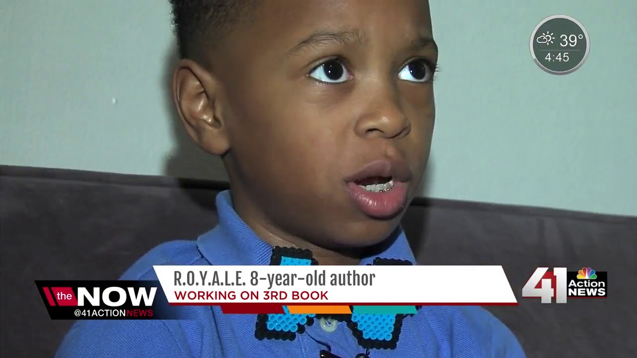 8-year-old local author working on third book