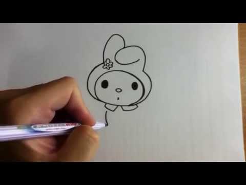 สอนวาดรูป การ์ตูน กระต่าย มาย เมโลดี้ My melody