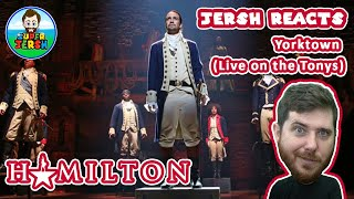 FIRST TIME EVER reacting to HAMILTON, Yorktown (Live at the Tonys) REACTION! - Jersh Reacts