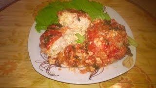 Куриные тефтели (ёжики) в томатном соусе в мультиварке