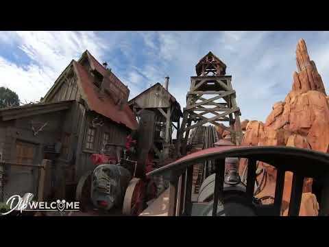 [4K] Big Thunder Mountain - Front Row / On Ride - Disneyland Paris