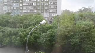30.05.2018 Сильный ветер в Нижнем Новгороде. Вид из окна
