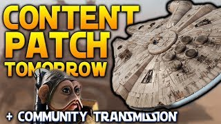 PATCH TOMORROW: New Hero Starfighter Mode, Sullustan, Lightsaber Changes & More - Battlefront 2