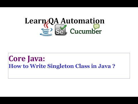 How to create Singleton Class in Java