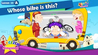 Lesson 20_(A)Whose bike is this? - Cartoon Story - English Education - Easy conversation for kids