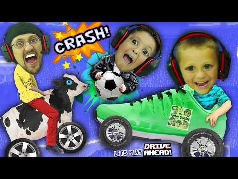 FGTEEV BOYS CRASH, SMASH & SOCCER DASH!  Dad vs. Sons Drive Ahead iOS App Game