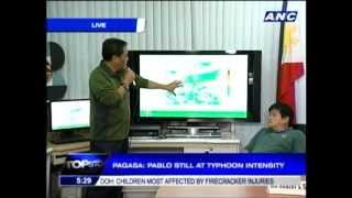 Typhoon Pablo to make landfall in Luzon