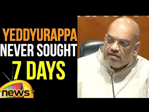 Amit Shah Clarifies Yeddyurappa ji Never sought 7 days of time Congress lawyers | Mango News