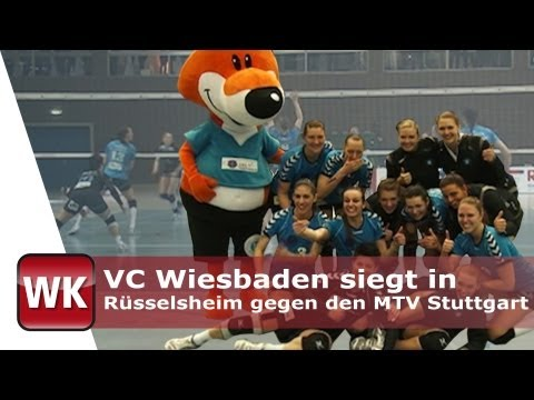 VC Wiesbaden siegt in Rüsselsheim gegen den MTV Stuttgart