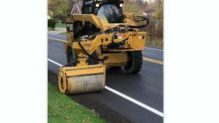 Video still for No Limits Compaction: Road Widener Offset Vibratory Roller