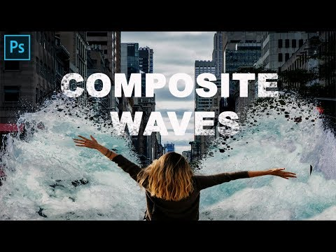 How To Create Dividing Waves Composite ( Adobe Photoshop)