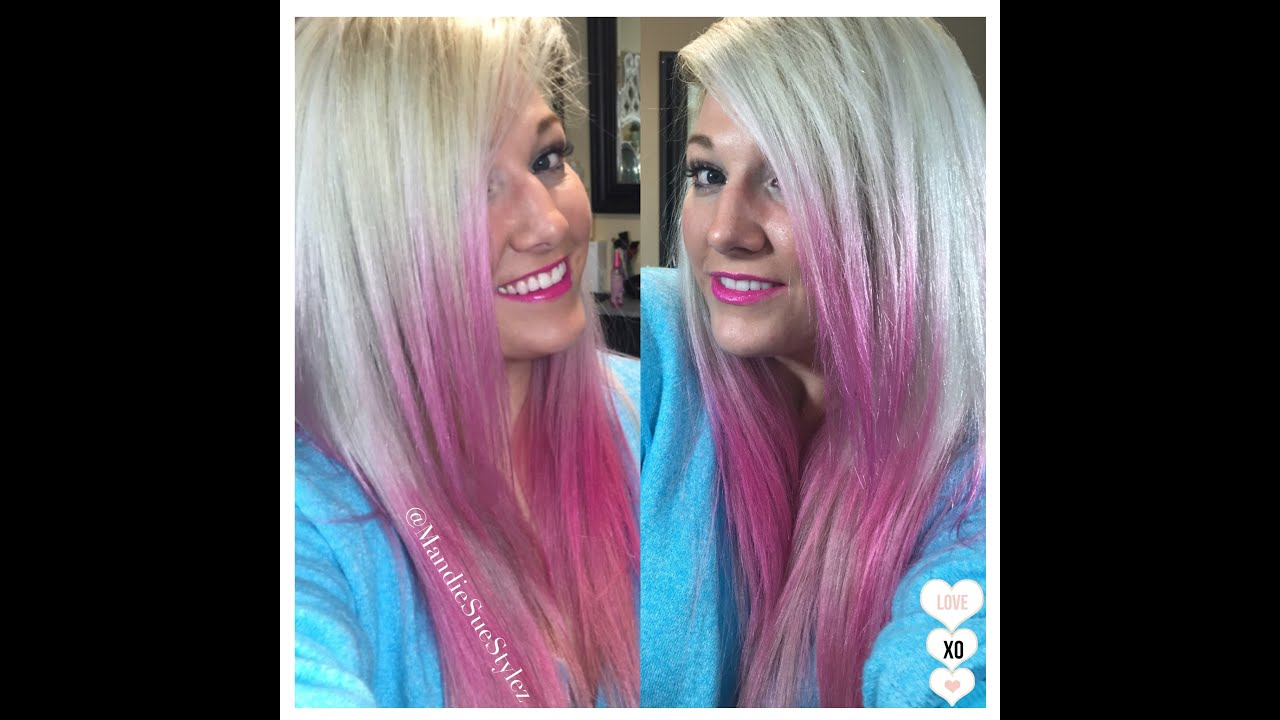 Pink Temporary Hair Color Valentines Day Hair Blonde Hair Melted