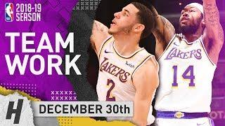 Lonzo Ball & Brandon Ingram COMBINED Highlights Lakers vs Kings 2018.12.30 - DOING WORK