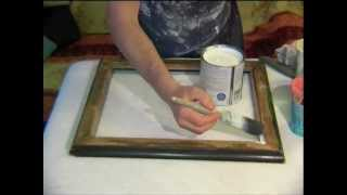 How To Create Your Own Gorgeous Shabby Chic Finish For A Mirror Or Frame - Demonstration