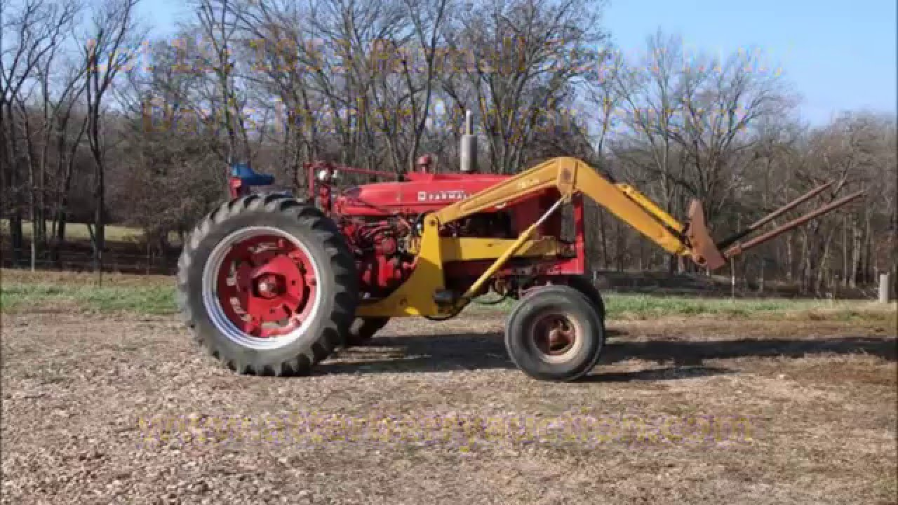 Farmall Tractor With Loader : Farmall super m tractor w davis loader hydraulic