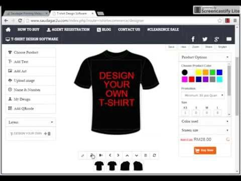 How to Design T-Shirt use Software - YouTube dcf6de858