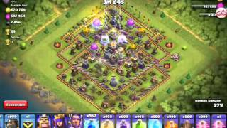 CLASH OF CLANS 999 LIGHTNING SPELL !!! INSANE ATTACK !!! 2016