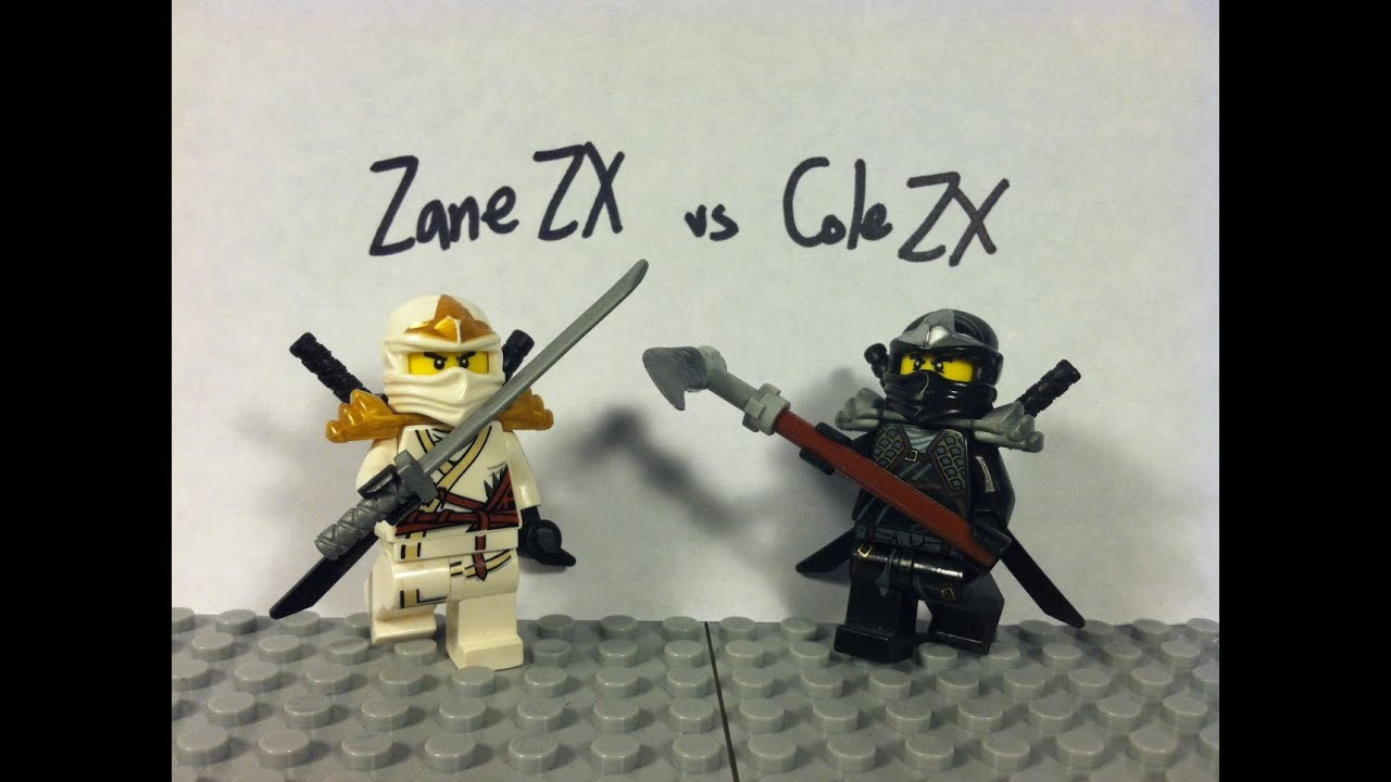 Lego ninjago zane zx vs cole zx youtube - Ninjago vs ninjago ...