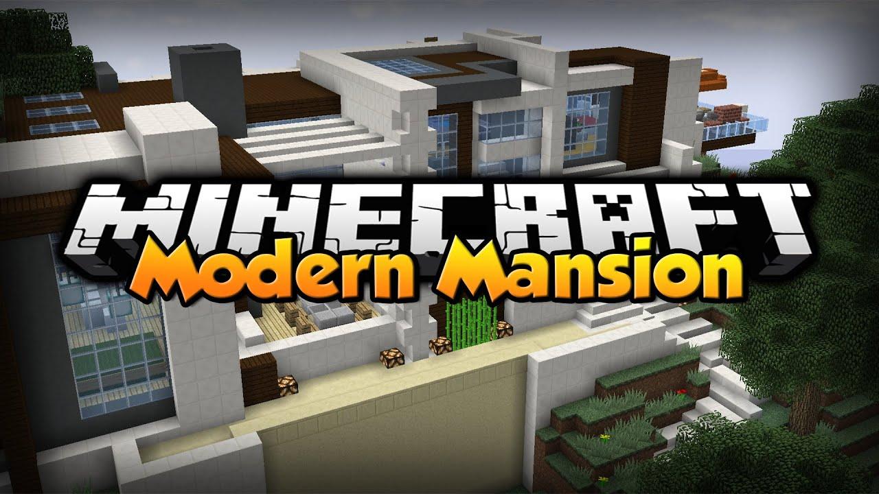 Minecraft modern mansion redstone smart house for Minecraft modernes redstone haus