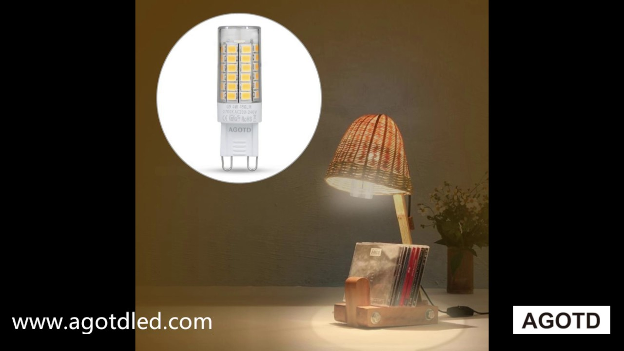 Led Lampen Design : Agotd g9 led glühlampen 4w 35 40w halogenlicht 2700k warmweiß led