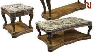 Fairmont Empire End Table, Rectangle Cocktail And Chairside Table Marble Top