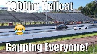 850whp Hellcat VS Stock Hellcat GAPPED! Youtube Callout October 2018