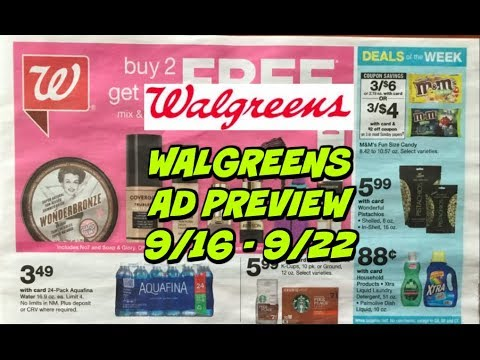 WALGREENS AD PREVIEW 9/16 - 9/22 | 49¢ BODY WASH!