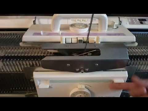 Идеальный край у резинки при вязании на двухфонтурной вязальной машине. По инструкции к Сильвер рид.