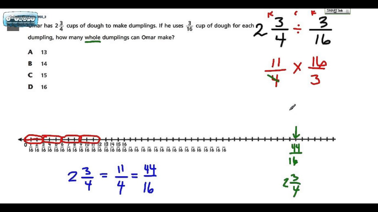 worksheet Dividing Mixed Numbers common core math test grade 6 15 dividing mixed numbers 2015 youtube