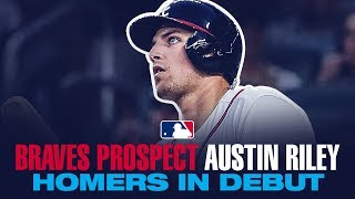 Austin Riley homers in MLB debut