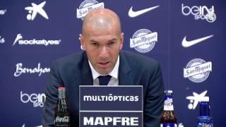 Declaraciones de Zidane tras el empate ante el Málaga