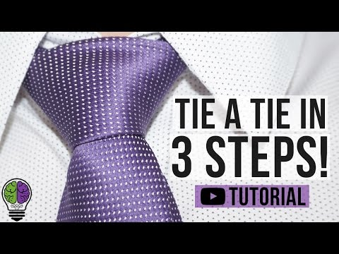 How To Tie A Tie In 3 Steps!