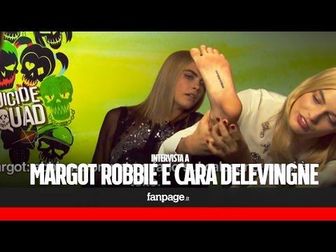 """Margot Robbie e Cara Delevingne: """"Ecco i tutuaggi fatti sul set di Suicide Squad"""""""
