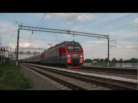 ЭП1М-703 с поездом №198 Иркутск — Кисловодск