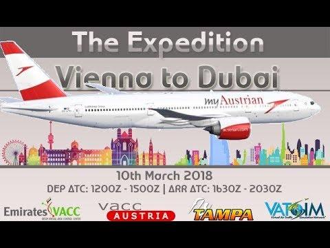 PMDG 777-200LR Expedition from Vienna to Dubai on Vatsim